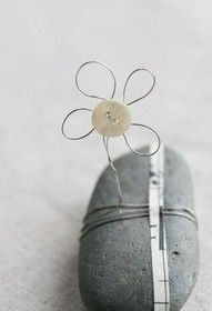 button and wire flowers