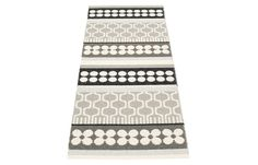 The Asta Warm Grey Runner Rug features an alternating mix of warm grey and black colors to highlight its beautiful design. Taking a neutral theme, this rug goes with any kind of color scheme. This rug is environment-friendly and easy-to-use. Created with love and care in Dalarna, Sweden, it is composed of polyester warp and ISO certified plastic. The strength and durability of this rug are attributed to the welding of its Swedish PVC ribbons. Woven on traditional looms using wooden shuttles…