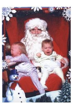 Santa Pictures Gone Bad. Hilarious pictures of kids with Santa.