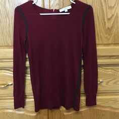Sweater A long sleeved sweater with a zipper. Has a soft touch very good condition LOFT Sweaters Cardigans