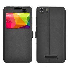 BLU advance 5.0 case, KuGi ® BLU advance 5.0 case - BW style High quality ultra-thin PU Leather Case for BLU advance 5.0 smartphone. (Black) #carscampus