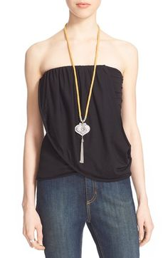 Free shipping and returns on Free People 'Anas' Draped Jersey Tube Top at Nordstrom.com. A drapey, raw-edge panel drops down the front and wraps around one side of a supersoft ruched tube top fashioned with a smocked back for an easy fit.