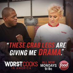 Tonight Anne Burrell and Bobby Flay's final two Worst Cooks recruits battle it out at 9|8c!