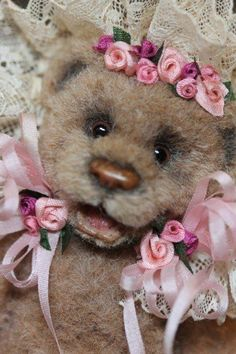 OOAK Kimbearlys Originals Miniature Doll House Mohair Teddy Bear #1/#1 #AllOccasion