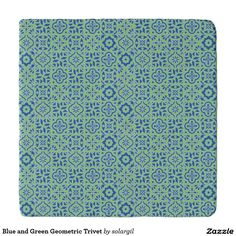 Blue and Green Geometric Trivet Trivets