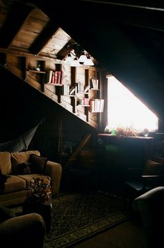 Words can not express how enchanting this attic library space is to me.