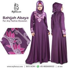Perfect blend of ethnicity and style, Bahijah Abaya is ecstatically crafted for any festive occasion. check here: https://www.mybatua.com/womens/abaya/bahijah-abaya?utm_content=buffera0e22&utm_medium=social&utm_source=pinterest.com&utm_campaign=buffer  #abaya #bahijahabaya #muslimahfashion #spring2017 #mybatua #muslimah #modestfashion #hijabista #Ramadan2018