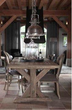 landelijke tafel woonkamer - Google zoeken