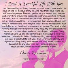 Soulmate and Love Quotes : QUOTATION – Image : Quotes Of the day – Description i-want-a-beautiful-life-with-you Sharing is Power – Don't forget to share this quote ! Love Poems For Boyfriend, Love Poem For Her, Love Quotes For Her, Boyfriend Quotes, Love Yourself Quotes, Love Msg For Him, Girlfriend Quotes, Husband Quotes, Romantic Love Letters