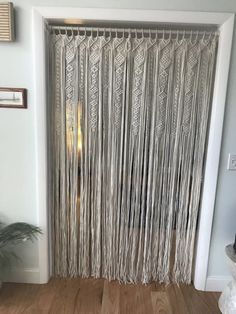 Large Macrame Door Curtains of 2 or 1 Panels Macrame Window