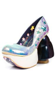 Irregular Choice The Iridescent Vader Shoe in Silver