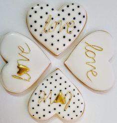 Black&White Valentine Cookies