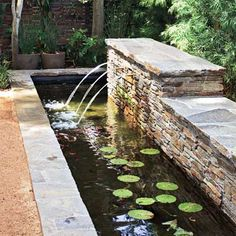 Defined by geometric shapes, this type of pond is often edged in expensive mortared stone or poured concrete. Perfect for a reflecting pool in a formal garden, it also makes a fine showcase for fish. | Photo: Tim Street-Porter | thisoldhouse.com
