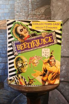 BeetleJuice Collectors case Holds 12 action figures vintage1990 Great condition. $18.50, via Etsy.-sisoftmoonvintage