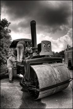 Angry Steam roller