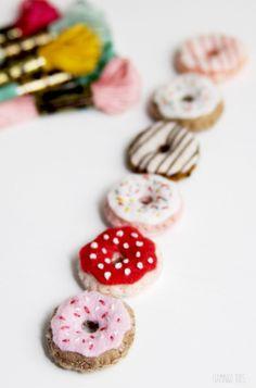 Tiny little felt donuts                                                                                                                                                                                 More