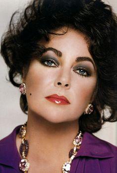 Actress Elizabeth Taylor by photographer Francesco Scavullo (1982).