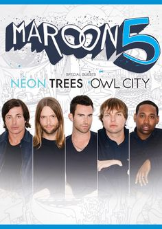 Maroon 5 Neon Trees Owl City March 15th Staples Center Owl City Maroon 5 American Tours