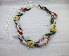 Crochet lace Bohem Necklace Turkish needle lace Flower by handana
