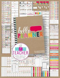 My Hello Planner includes over 200 printable template pages for you to customize, print and organize just the way you need it. Each page is created as a separate file to make it easier for you to find and print just what you need when you need it! Thank you for your continued support and amazingly inspiring feedback!! What's Included: Directions and Terms of Use Five cover page styles to choose from Section Divider Pages – Choose to organize your planner ...