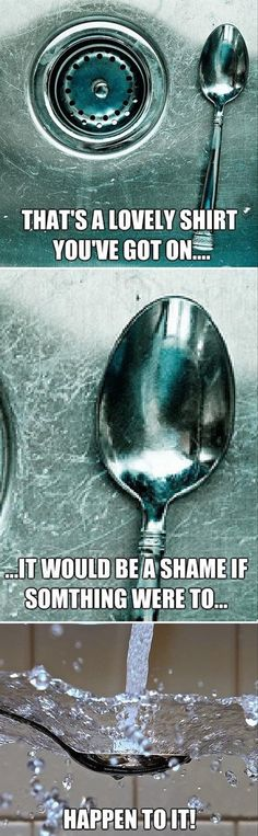 funny pictures, spoon in the sink