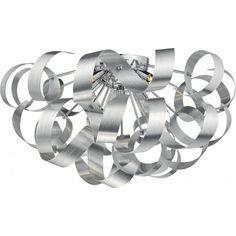 RAW0550 Rawley 5 Light Flush Brushed Aluminium