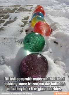 Okay, so maybe we don't have the snow necessary to pull this one off but how cool is that! Christmas Bulbs, Balloons, Christmas Light Bulbs, Balloon, Hot Air Balloons