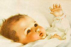 Vintage  Bessie Pease Gutmann  Lovely Baby by CrystalBlueVintage, $97.95