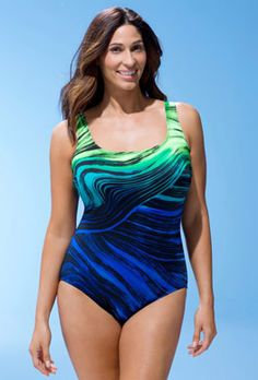 7b1c82abdc One Piece - Longitude Phoenix Tank Swimsuit Long Torso