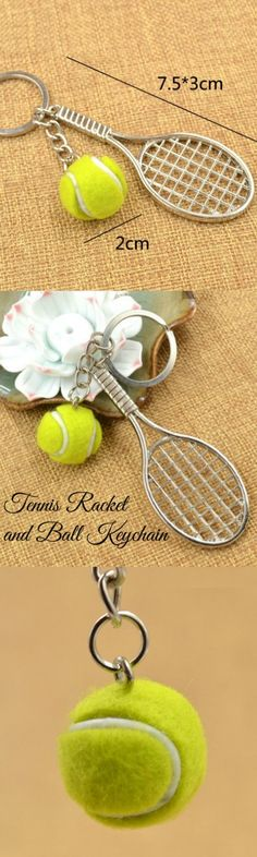 Tennis Racket and Ball Keychain! Click The Image To Buy It Now or Tag Someone…