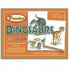 Heritage Piccolori Dinosaurs Compact Coloring Kit -