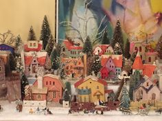 More putz....cardboard houses, my village