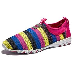 Kensbuy Womens Multicolor Slip on Canvas Casual Shoes EU36 Red ** You can get additional details at the image link.(This is an Amazon affiliate link and I receive a commission for the sales)