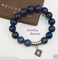 Silpada-Confection-STRETCH-Bracelet-Lapis-925-Sterling-Silver-B2812-NEW