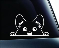 Corgi Peeking Dog Symbol Decal Funny Car Truck Sticker Window (White) ExpressDecor http://www.amazon.com/dp/B00RNC948M/ref=cm_sw_r_pi_dp_KLcRub0NDV7XG