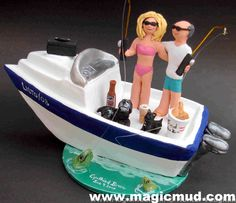 Speed Boat Cake Topper