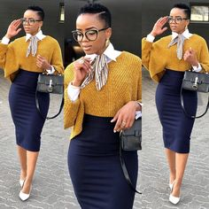 Stunning work look.she sure knows how to slay . Casual Work Outfits, Business Casual Outfits, Classy Outfits, Chic Outfits, Fashion Outfits, Fasion, Fashion Styles, Work Fashion, Fashion Looks