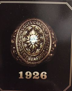 Louis World Series Replica of 1926 Championship Ring Davinci Beads, World Series Winners, Championship Rings, Cardinals Baseball, St Louis, Class Ring, Charms, Patches, Events