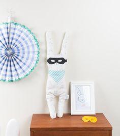 Grand Arsène lapin le doudou écolo fait en par HelloBellacicci
