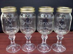 Man, I would have of loved these when i got married! Custom Etched Redneck Wine Glass Wedding Set. $35.00, via Etsy.