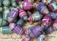 Paper Bead Template T-1 Olive Shape Paper por PassionForPaperBeads