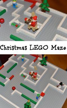 Christmas LEGO maze