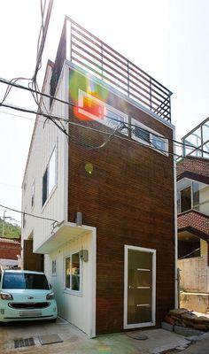 【홍제동 단독주택】도심지 작은 대지를 100% 활용한 소형주택