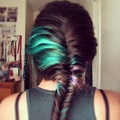 my hair #dye #fishtail #braid (Instagram -@allisonueno)