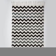8131d82c10 Chevron Monochrome Rug - Black