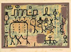 Paul Klee - Le Boulevard des Anormaux, 1938