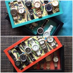 Organise your watches in most convenient way! Store upto 12 watches more designs on www.facebook.com/decographyinc