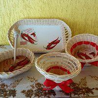 sada košíků PEPPERS (možno koupit i jednotlivé kusy) the set of baskets PEPPERS (possible to buy as individual pieces)