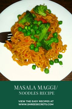 Masala maggi is an Indian snack made by using maggi noodles tossed with green vegetables alonwith some basic spices. Indian Snacks, Indian Food Recipes, Vegetarian Recipes, Healthy Recipes, Maggi Recipes, Chaat Masala, Best Comfort Food, Easy Delicious Recipes, World Recipes