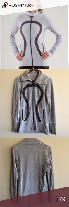 🍋 Lululemon In Stride Jacket Classic jacket in very good used condition. There is minimal pilling along the large lulu symbol (pic 7) and the hair tie, while still attached, is broken (4th pic, bottom left). See last pic for full details. Size 6, dot confirmed.  🚫NO TRADES.  📷To assure that you receive the product you ordered in the condition described, THIS ITEM WILL BE CAREFULLY VIDEO RECORDED FROM PACKAGING TO SHIPPING📷 lululemon athletica Jackets & Coats